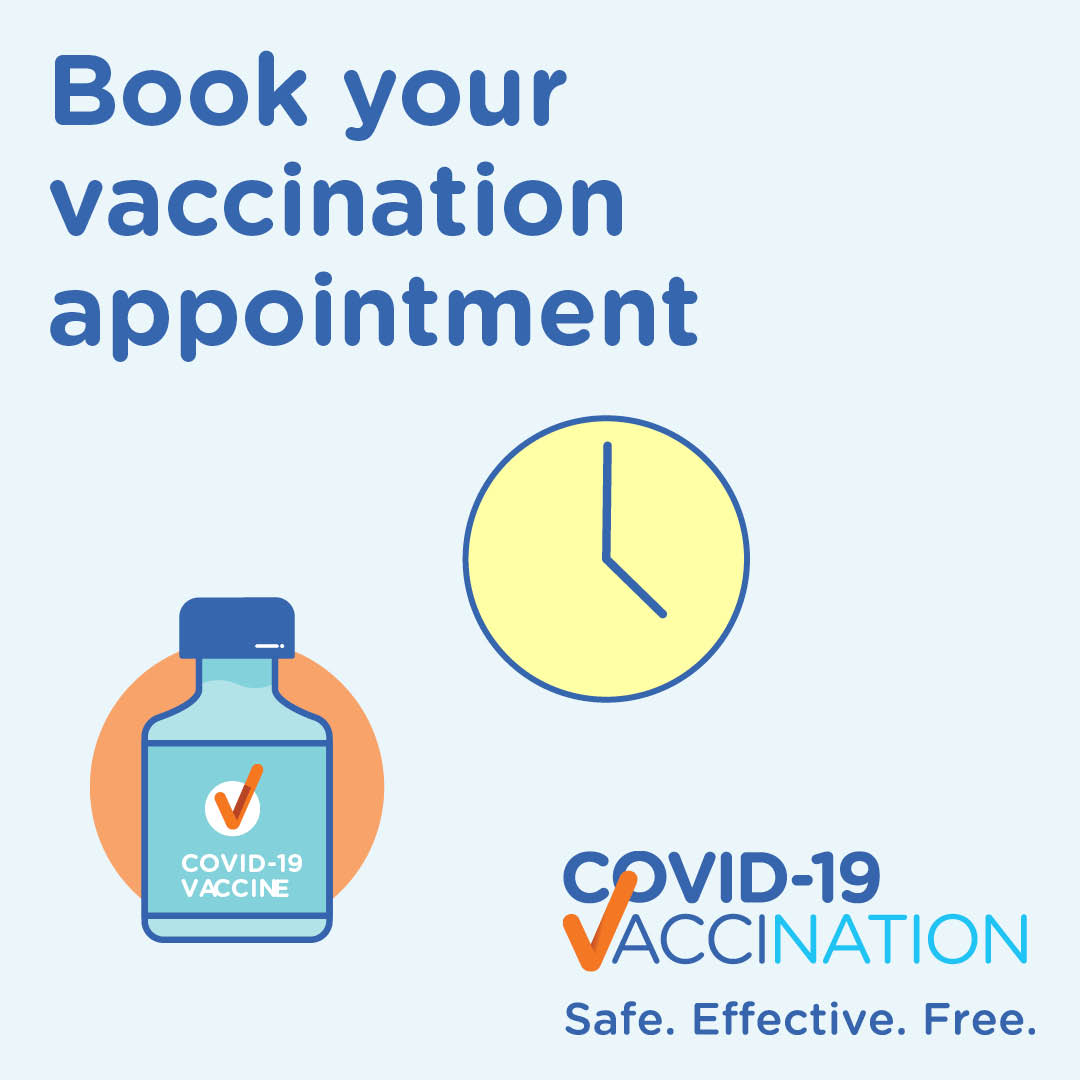 covid 19 vaccination covid 19 vaccine provider communication kit social media tiles book your covid 19 vaccination appointment 0